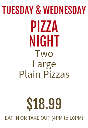 Tony's Italian Restaurant and Pizza Farmingdale, NJ - Pizza Night